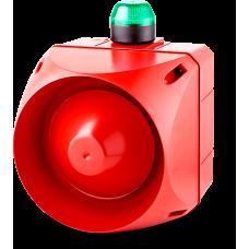 ADX многотональная сирена со встроенным светодиодным индикатором Зеленый 24 V AC/DC