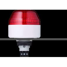 IBL светодиодный маячок с постоянным/мигающим светом и креплением на панели M22 Красный серый, 110-120 V AC