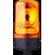 MRS проблесковый маячок с вращающимся зеркалом Оранжевый 24 V AC/DC, Трубка D 25 мм