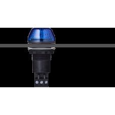 IBS светодиодный маячок с постоянным/мигающим светом и креплением на панели M22 Синий черный, 12 V AC/DC