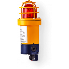 dSF взрывозащищенный ксеноновый стробоскопический маячок Красный 15 Дж, 80 V DC