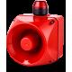ACM многотональная сирена со встроенным светодиодным индикатором Красный 230-240 V AC