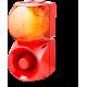 Комбинированный свето-звуковой оповещатель ASM+QDM Оранжевый 120-240 V AC, 24-48 V AC/DC