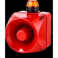 ADM многотональная сирена со встроенным светодиодным индикатором Оранжевый 110-120 V AC