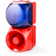 Комбинированный свето-звуковой оповещатель ASM+QDM Синий 120-240 V AC, 24-48 V AC/DC