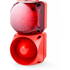 Комбинированный свето-звуковой оповещатель ASL+QBL Красный 110-240 V AC/DC, 110-120 V AC