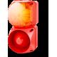 Комбинированный свето-звуковой оповещатель ASL+QDL Оранжевый 110-240 V AC/DC, 110-120 V AC