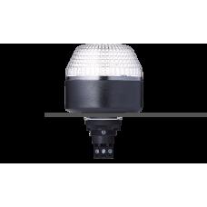 IBL светодиодный маячок с постоянным/мигающим светом и креплением на панели M22 Белый 24 V AC/DC, черный