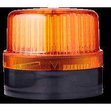 DLG светодиодный маячок постоянного света Оранжевый 48 V AC/DC, черный