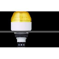 IBM светодиодный маячок с постоянным/мигающим светом и креплением на панели M22 Желтый 12 V AC/DC, серый