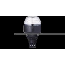 IBM светодиодный маячок с постоянным/мигающим светом и креплением на панели M22 Белый 230-240 V AC, черный