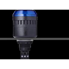 EDM сирена с креплением на панели с контрольным светодиодом Синий 24 V AC/DC, черный