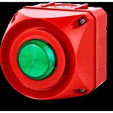 ADS-T многотональная сирена со встроенным светодиодным индикатором Зеленый 24 V AC/DC