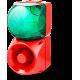 Комбинированный свето-звуковой оповещатель ASM+QDM Зеленый 24 V AC/DC, 120-240 V AC