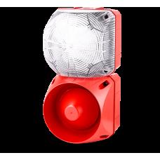 Комбинированный свето-звуковой оповещатель ASL+QDL Белый 24-48 V AC/DC, 230-240 V AC