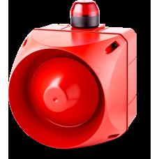 ADX многотональная сирена со встроенным светодиодным индикатором Красный 24 V AC/DC