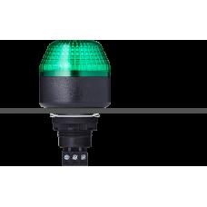 ISM ксеноновый стробоскопический маячок с креплением на панели M22 Зеленый 110-120 V AC, черный