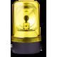 MRL проблесковый маячок с вращающимся зеркалом Желтый 230-240 V AC, Горизонтальный