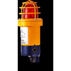 dSF взрывозащищенный ксеноновый стробоскопический маячок Красный 5 Дж, 80 V DC