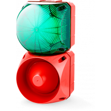 Комбинированный свето-звуковой оповещатель ASL+QBL Зеленый 24-48 V AC/DC, 230-240 V AC
