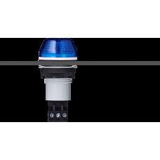 IBS светодиодный маячок с постоянным/мигающим светом и креплением на панели M22 Синий серый, 230-240 V AC