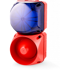 Комбинированный свето-звуковой оповещатель ASL+QDL Синий 24-48 V AC/DC, 110-120 V AC