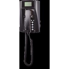wFT3-IP VoIP телефон, всепогодный Черный Спиральный шнур
