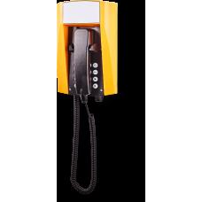 wFT3 аналоговый телефон, всепогодный Желтый Спиральный шнур, С клавиатурой, Без дисплея