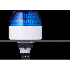 IBL светодиодный маячок с постоянным/мигающим светом и креплением на панели M22 Синий 110-120 V AC, серый