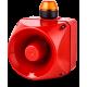 ADM многотональная сирена со встроенным светодиодным индикатором Оранжевый 24 V AC/DC