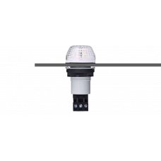 IBS светодиодный маячок с постоянным/мигающим светом и креплением на панели M22 Белый серый, 12 V AC/DC