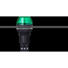 IBS светодиодный маячок с постоянным/мигающим светом и креплением на панели M22 Зеленый черный, 12 V AC/DC