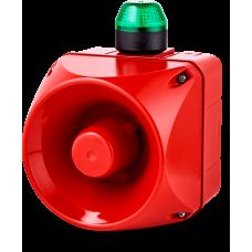 ADM многотональная сирена со встроенным светодиодным индикатором Зеленый 110-120 V AC