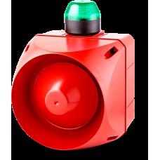 ACL многотональная сирена со встроенным светодиодным индикатором Зеленый 24 V AC/DC