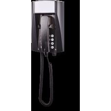 wFT3 аналоговый телефон, всепогодный Черный Спиральный шнур, С клавиатурой, Без дисплея
