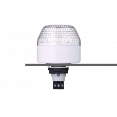 IBL светодиодный маячок с постоянным/мигающим светом и креплением на панели M22 Белый 12 V AC/DC, серый
