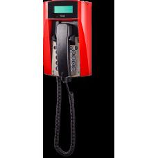dFT3 взрывозащищенный аналоговый телефон Красный Спиральный шнур, С дисплеем