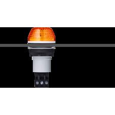 IBS светодиодный маячок с постоянным/мигающим светом и креплением на панели M22 Оранжевый 12 V AC/DC, серый
