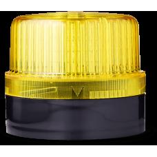 DLG светодиодный маячок постоянного света Желтый 48 V AC/DC, черный