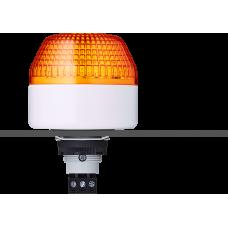 IBL светодиодный маячок с постоянным/мигающим светом и креплением на панели M22 Оранжевый 24 V AC/DC, серый