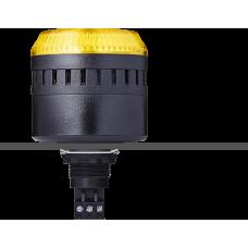 EDG сирена с креплением на панели с контрольным светодиодом Желтый 12 V AC/DC, черный