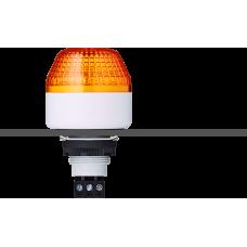 IBM светодиодный маячок с постоянным/мигающим светом и креплением на панели M22 Оранжевый 24 V AC/DC, серый