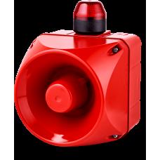 ADM многотональная сирена со встроенным светодиодным индикатором Красный 110-120 V AC