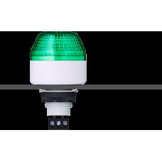 IBM светодиодный маячок с постоянным/мигающим светом и креплением на панели M22 Зеленый 24 V AC/DC, серый