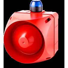ADX многотональная сирена со встроенным светодиодным индикатором Синий 24 V AC/DC
