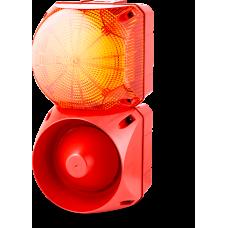 Комбинированный свето-звуковой оповещатель ASL+QDL Оранжевый 24-48 V AC/DC, 230-240 V AC