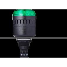 EDM сирена с креплением на панели с контрольным светодиодом Зеленый 24 V AC/DC, черный