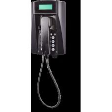 wFT3 аналоговый телефон, всепогодный Черный Армированный шнур, С клавиатурой, С дисплеем